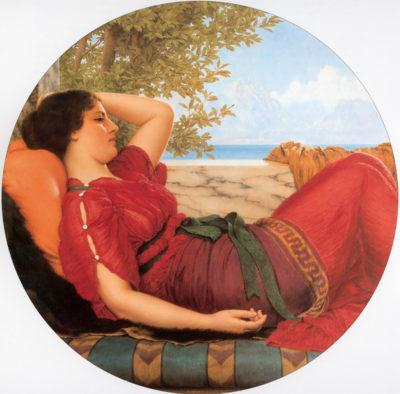 John William Godward In Realms of Fancy
