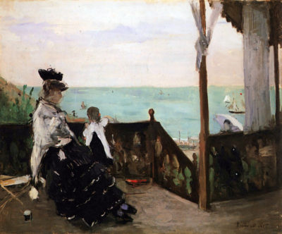 Berthe Morisot In a villa on the beach