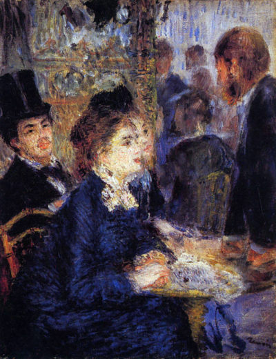 Pierre-Auguste Renoir In the Cafe