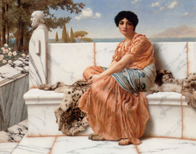 John William Godward In the Days of Sappho