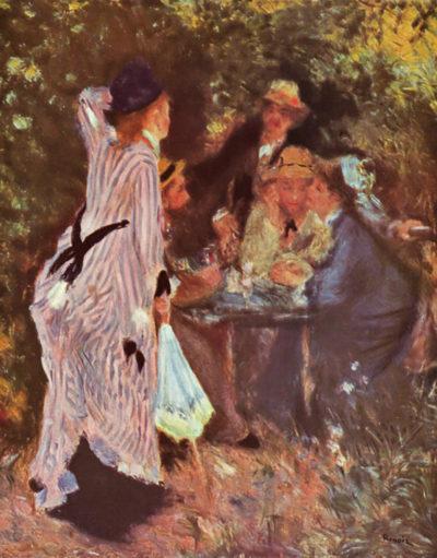 Pierre-Auguste Renoir In the Garden (in the garden bower of Moulin de la Galette)