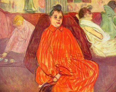 Henri de Toulouse-Lautrec In the Salon Divas