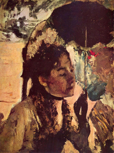 Edgar Degas In the Tuileries - Woman with Parasol