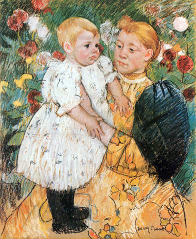 Mary Cassatt In the garden
