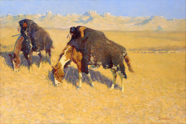 Frederic Remington Indians Simulating Buffalo