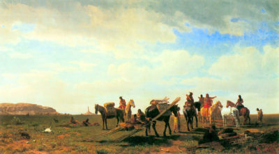 Albert Bierstadt Indians near Fort Laramie