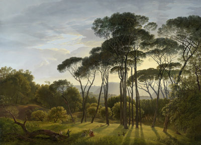 Hendrik Voogd Italian Landscape with Umbrella Pines