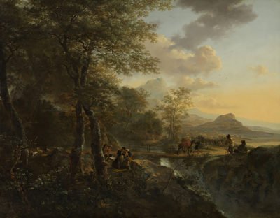 Jan Both Italian Landscape with a Draughtsman