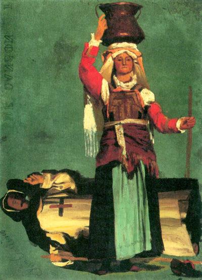 Albert Bierstadt Italian costume studies