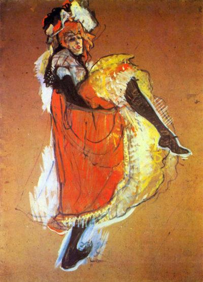 Henri de Toulouse-Lautrec Jane Avril Dancing