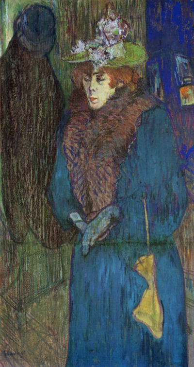 Henri de Toulouse-Lautrec Jane Avril entering in the Moulin Rouge