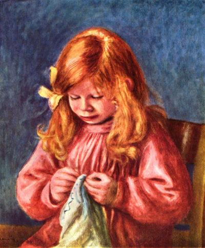 Pierre-Auguste Renoir Jean Renoir sewing