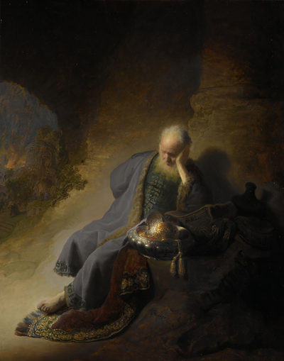 Rembrandt Harmensz. van Rijn Jeremiah Lamenting the Destruction of Jerusalem