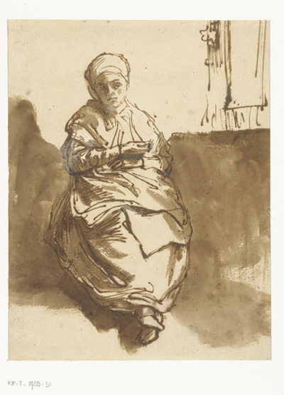 Rembrandt Harmensz. van Rijn Young Woman (Saskia?) sitting by the Window