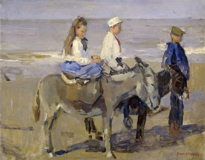 Isaac Israëls Boy and Girl on Donkeys