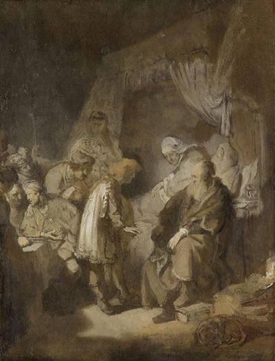 Rembrandt Harmensz. van Rijn Joseph Telling his Dreams to his Parents and Brothers