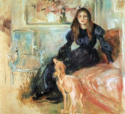 Berthe Morisot Julie Manet and her greyhound Laertes