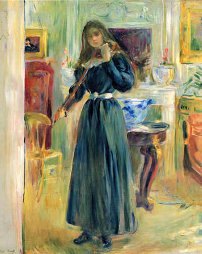 Berthe Morisot Julie playing violin