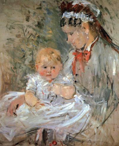 Berthe Morisot Julie with her nurse
