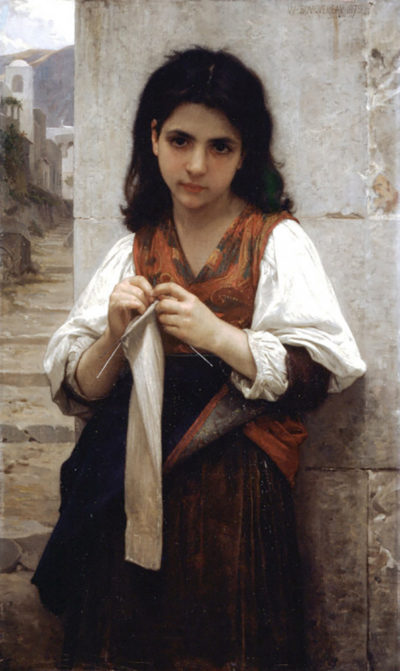 William-Adolphe Bouguereau Knitter