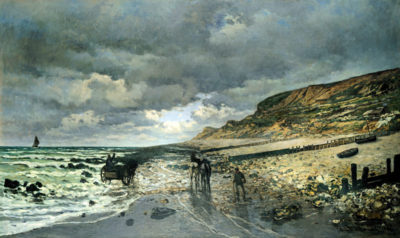 Claude Monet La Pointe del Heve at low tide