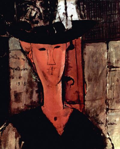 Amedeo Clemente Modigliani Lady With Hat