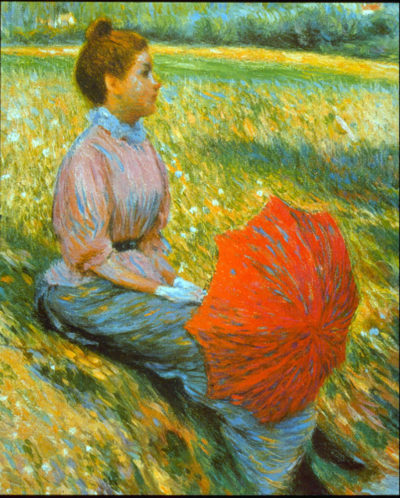 Federico Zandomeneghi Lady in a Meadow