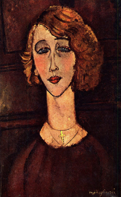 Amedeo Clemente Modigliani Lady with a green cross