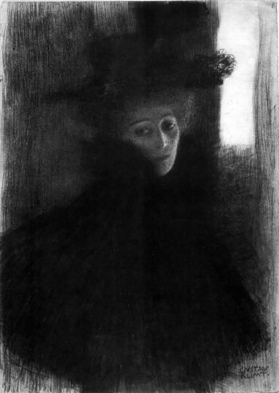 Gustav Klimt Lady with a hat and Cape