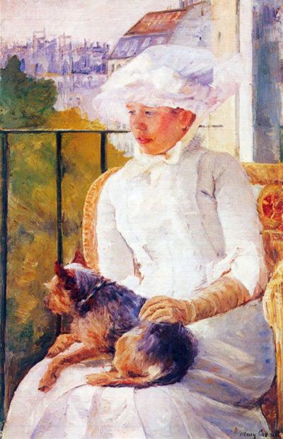 Mary Cassatt Lady with dog