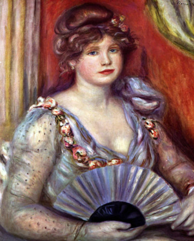 Pierre-Auguste Renoir Lady with fan