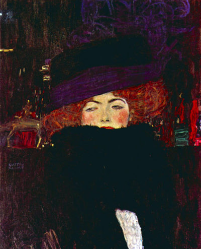Gustav Klimt Lady with hat and feather