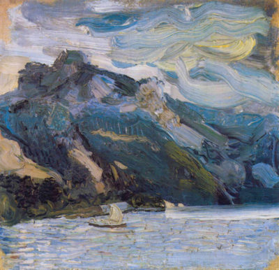 Richard Gerstl Lake Traunsee with mountains