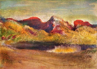 Edgar Degas Lake and mountains