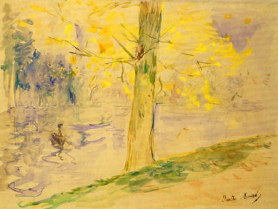 Berthe Morisot Lake in Bois de Boulogne
