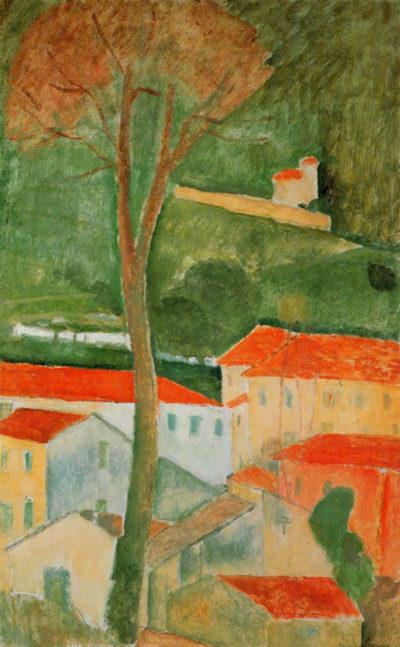 Amedeo Clemente Modigliani Landscape
