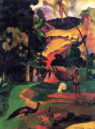 Paul Gauguin Landscape With Peacocks