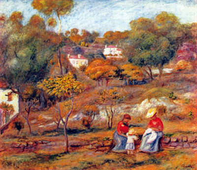 Pierre-Auguste Renoir Landscape at Cagnes