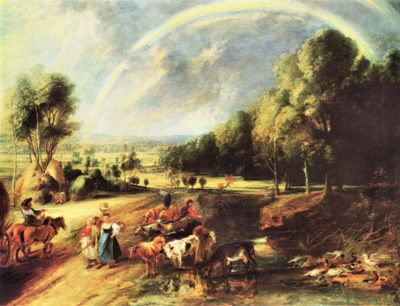 Peter Paul Rubens Landscape with Rainbow