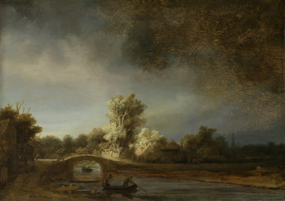 Rembrandt Harmensz. van Rijn Landscape with a Stone Bridge. The Stone Bridge.