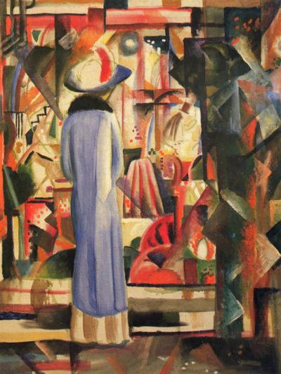 August Macke Large bright showcase