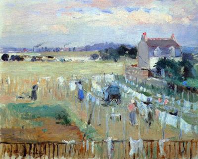 Berthe Morisot Laundry drying