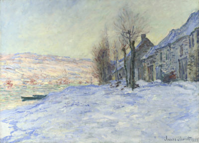 Claude Monet Lavacourt with Sunshine and Snow