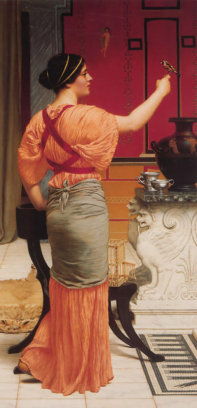 John William Godward Lesbia with her Sparrow