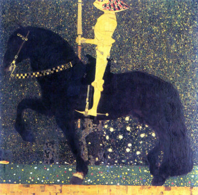 Gustav Klimt Life is a struggle (The Golden Knight)