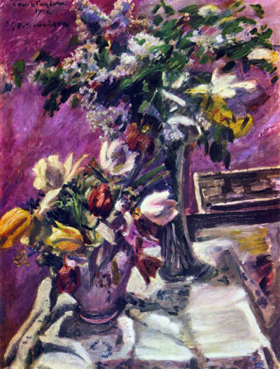 Lovis Corinth Lilac and tulips
