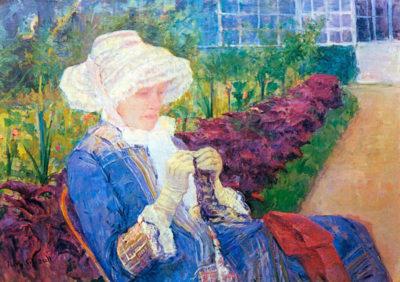 Mary Cassatt Lydia in the garden of Marly