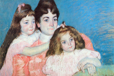 Mary Cassatt Madame A.F. Aude with her two daughters