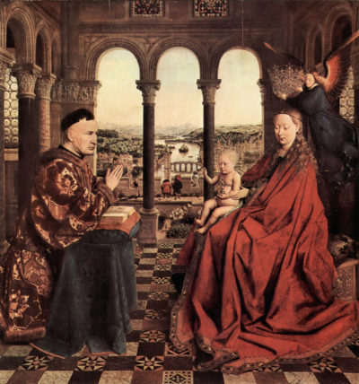 Jan van Eyck Madonna and Chancellor Nicholas Rolin
