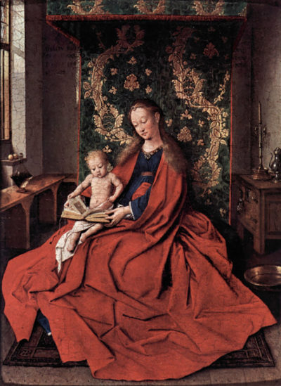 Jan van Eyck Madonna and child reading by Jan Van Eyck